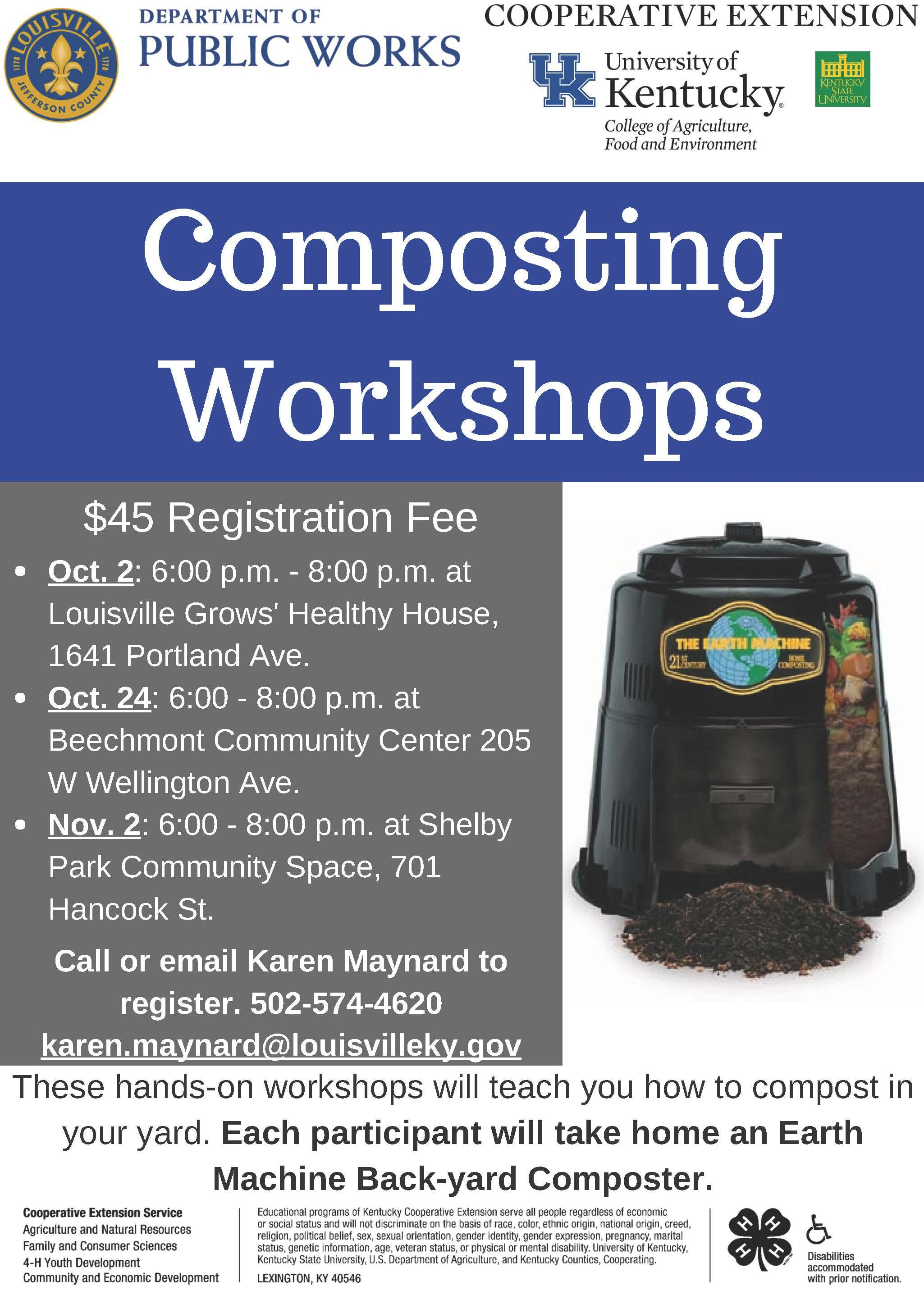Dates for Composting Workshop