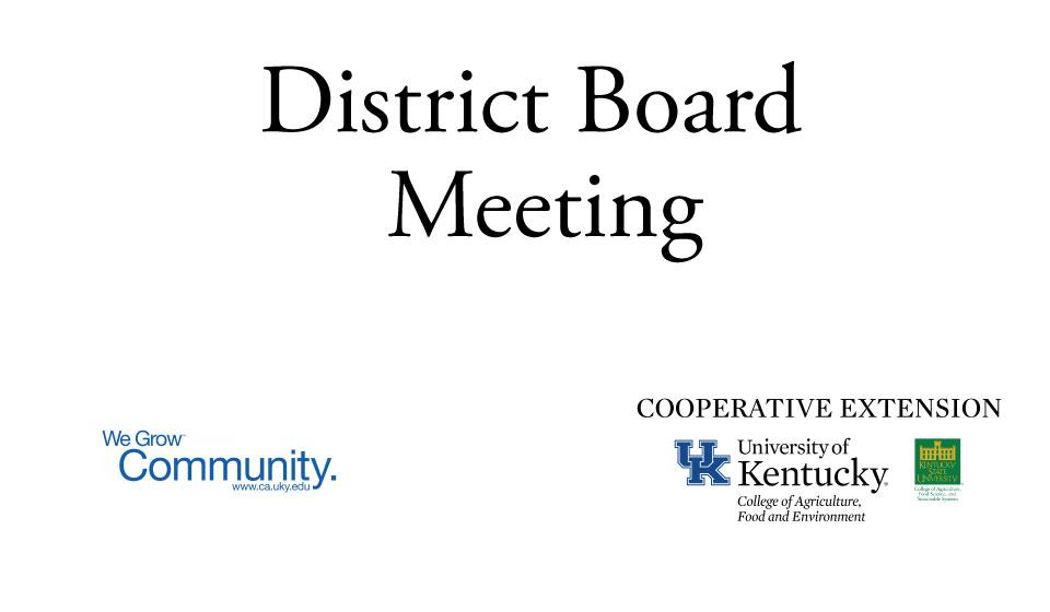 District board meeting